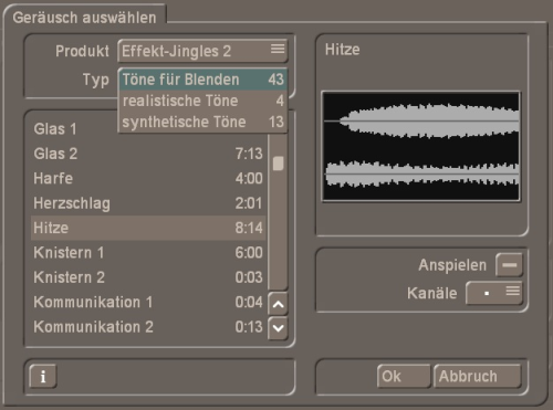 Effekt-Jingles 2 für Bogart Windows