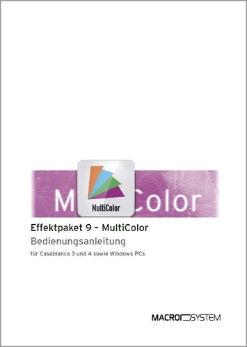 Video Effektpaket 9 MultiColor Handbuch